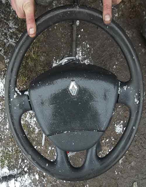 Руль та подушка безпеки в руль Рено Трафік