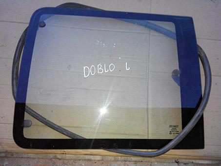 Скло бокове заднє ліве Fiat Doblo