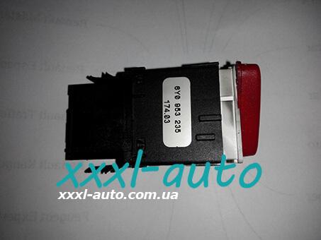 Кнопка аварійки Skoda Fabia 1999-2007 6Y0 953 235