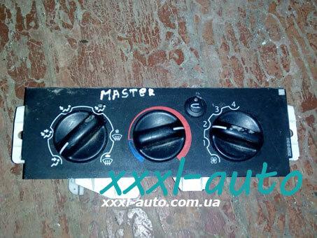 Блок управління пічкою ( регулятор обігрівача) Renault Master 7701057544