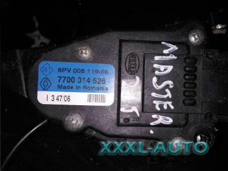 Фото Акселератор, педаль газу Renault Master 2.5 DCI 7700314526 2003-2010