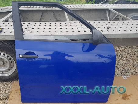 Фото Двері передні праві Skoda Fabia New 2 2007-2014 5J6831052 синій колір